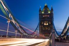 London Tower Bridge at night Royalty Free Stock Photos