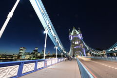 London tower bridge night scene Stock Image