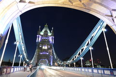 London tower bridge night walk Royalty Free Stock Image