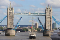 London Tower Bridge Opening Royalty Free Stock Images