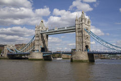 London Tower Bridge over the River Thames on a sunny day, London Royalty Free Stock Photos