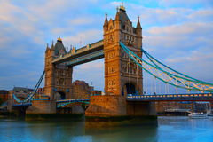 London Tower Bridge over Thames river Royalty Free Stock Image