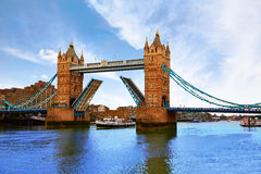 London Tower Bridge over Thames river Stock Photography