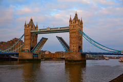 London Tower Bridge over Thames river Stock Images