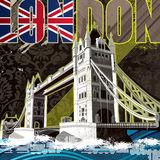London tower bridge poster Stock Images