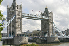London Tower Bridge. On the river Thames the London Tower bridge Stock Image