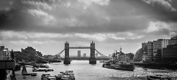 London Tower Bridge on the River Thames Royalty Free Stock Photos