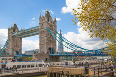 London, Tower bridge and River Thames Royalty Free Stock Photography