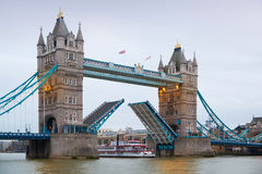 London, Tower bridge and River Thames Royalty Free Stock Images