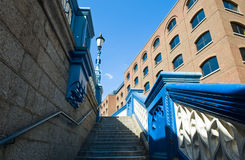 London. The Tower Bridge's stairs Stock Images