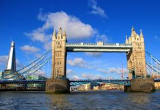 London Tower Bridge and Shard Stock Images