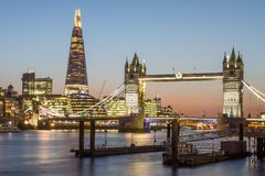 London Tower Bridge and The Shard Royalty Free Stock Images
