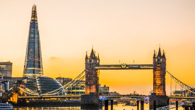 London Tower Bridge and The Shard Stock Image