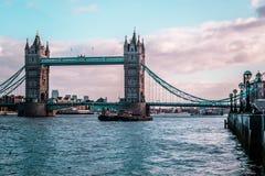 London Tower Bridge, sunny weather, England Stock Photos