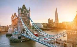 The london Tower bridge at sunrise Stock Photography