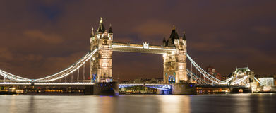 London Tower bridge on sunset Stock Images