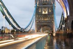 London Tower bridge on sunset Stock Photography