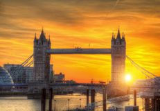 London tower Bridge in sunset light Royalty Free Stock Photo