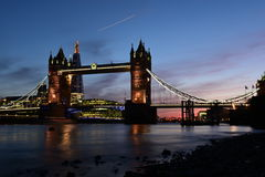 London Tower Bridge after sunset Royalty Free Stock Image