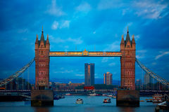 London Tower Bridge sunset on Thames river Royalty Free Stock Photography
