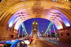London Tower Bridge sunset on Thames river Royalty Free Stock Photos