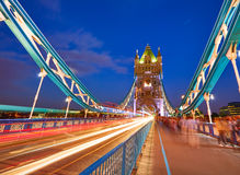 London Tower Bridge sunset on Thames river Stock Photography