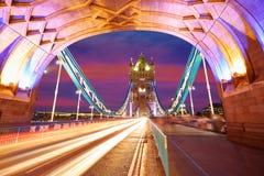 London Tower Bridge sunset on Thames river Royalty Free Stock Photo