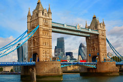 London Tower Bridge sunset on Thames river Royalty Free Stock Photos