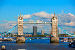 London Tower Bridge on Thames river Royalty Free Stock Image