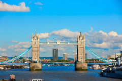 London Tower Bridge on Thames river Royalty Free Stock Photography