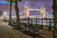London, Tower Bridge and Thames Stock Photo