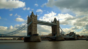 London tower bridge timelapse stock video