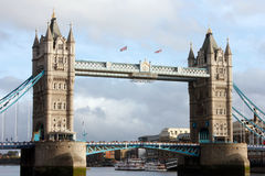 London - Tower Bridge with tourists Stock Images