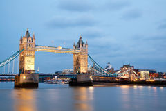 London Tower Bridge Twilight Stock Photography