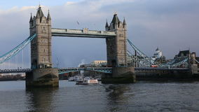 London Tower Bridge stock footage