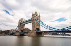 London Tower Bridge, UK England. Tower Bridge is a combined bascule and suspension bridge in London, over the River Thames. It is close to the Tower of London royalty free stock photos