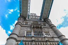 London Tower Bridge, UK England. Tower Bridge is a combined bascule and suspension bridge in London, over the River Thames. It is close to the Tower of London royalty free stock image