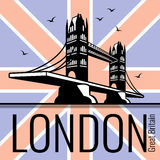 London tower bridge vector poster Royalty Free Stock Photos