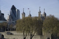 London tower and city of London Stock Images