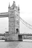 London tower in england old bridge and the cloudy sky Royalty Free Stock Photography