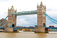 london tower in england      old bridge and the cloudy sky Stock Photo