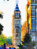 London tower watercolour. A tower in London done in a digital watercolour Stock Photography