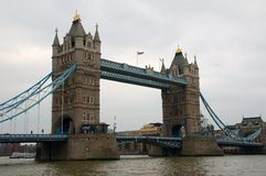 The london towerbridge. The towerbridge in london captured over the river Stock Photos