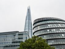London Town Hall and The Shard stock photos