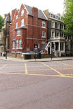 London town house. With red brick facade Royalty Free Stock Images