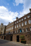 London town house. A low angle view of large Georgian London townhouses royalty free stock image