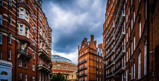 London Town Red bricks stock images