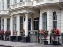 London townhouses. Elegant London townhouses, Kensington and Chelsea Royalty Free Stock Photos