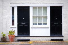 London townhouses painting Royalty Free Stock Photography