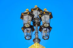 London traditional street lamps royalty free stock image